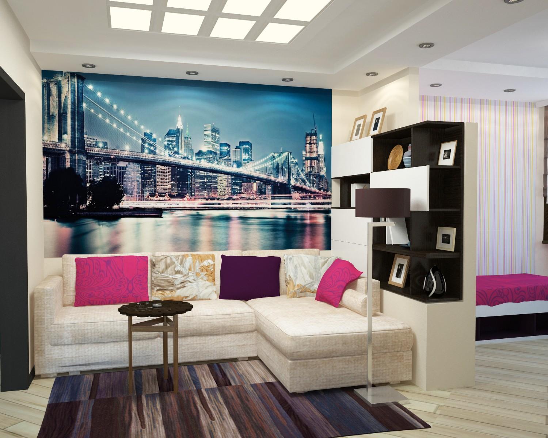 спальня гостиная 17 кв м фото идеи