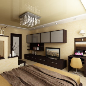 спальня гостиная 17 кв м фото интерьера