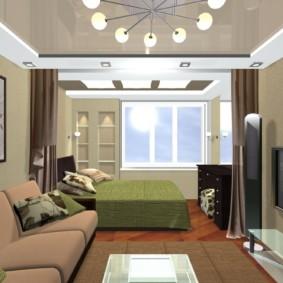 спальня гостиная 17 кв м идеи оформления
