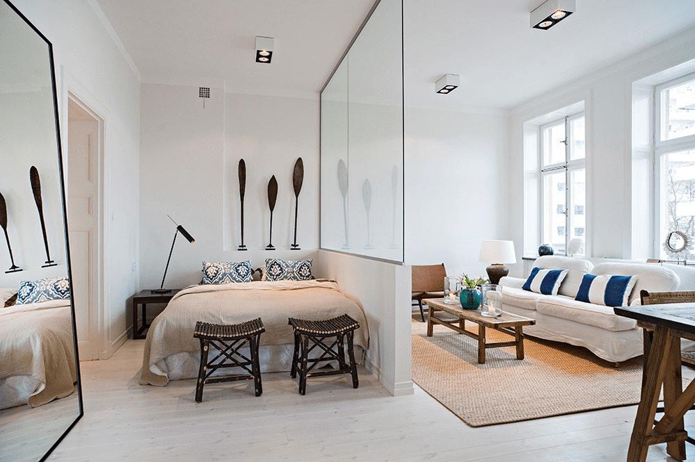 спальня гостиная 17 кв м интерьер