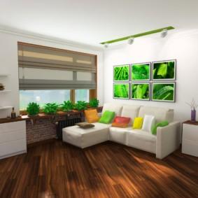 спальня гостиная 17 кв м оформление