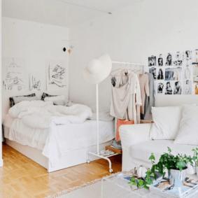 спальня гостиная 17 кв м варианты идеи