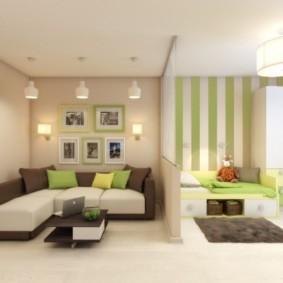 спальня гостиная 17 кв м виды