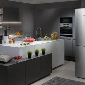 холодильник на кухне идеи фото