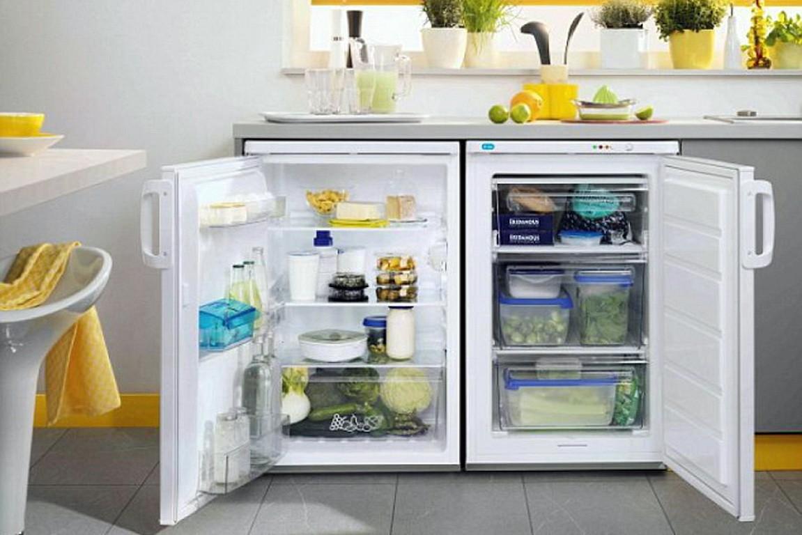 холодильник под столешницей