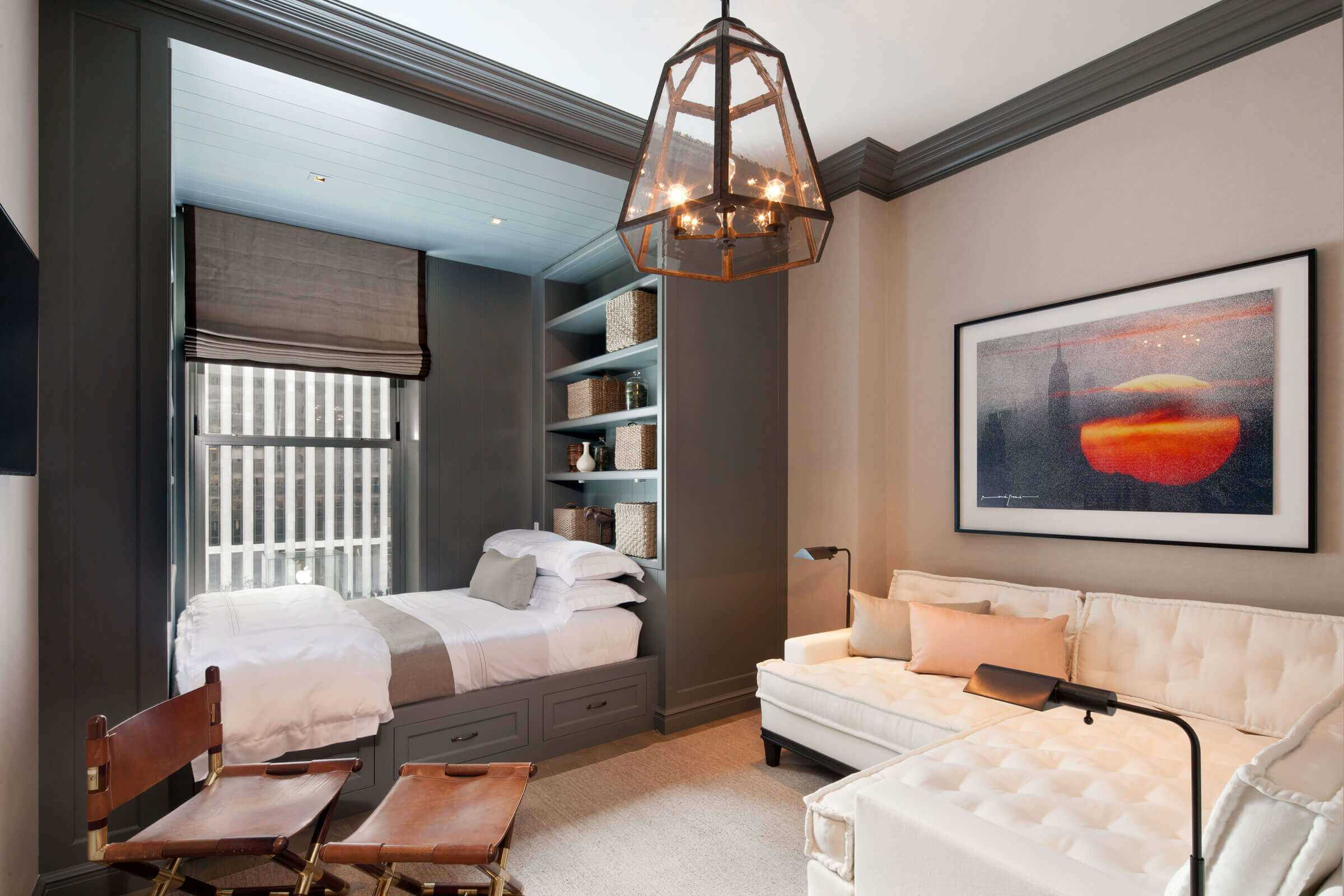 спальня-гостиная 18 кв.м. с нишей