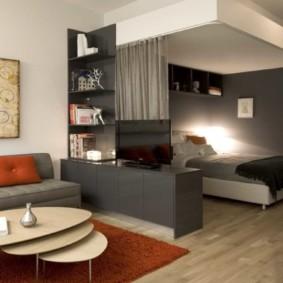 спальня-гостиная 18 кв.м. фото