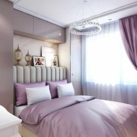 интерьер спальни в фиолетовых тонах декор идеи