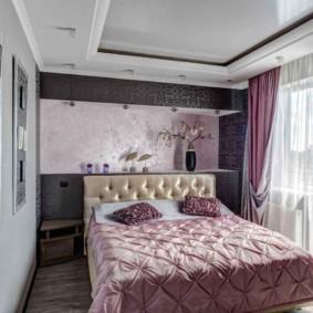 интерьер спальни в фиолетовых тонах дизайн фото