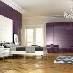 интерьер спальни в фиолетовых тонах фото идеи