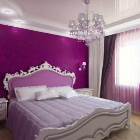 интерьер спальни в фиолетовых тонах фото вариантов