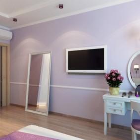интерьер спальни в фиолетовых тонах фото варианты