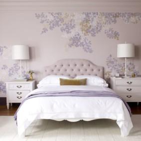 интерьер спальни в фиолетовых тонах фото видов