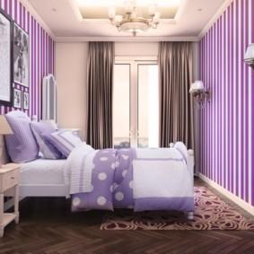 интерьер спальни в фиолетовых тонах идеи