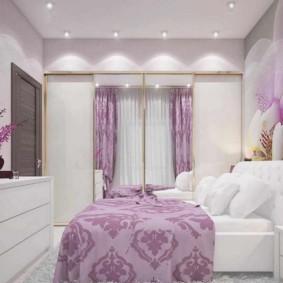 интерьер спальни в фиолетовых тонах идеи фото