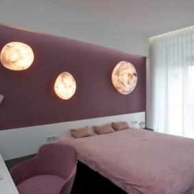 интерьер спальни в фиолетовых тонах идеи варианты