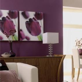 интерьер спальни в фиолетовых тонах идеи видов