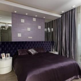 интерьер спальни в фиолетовых тонах варианты фото