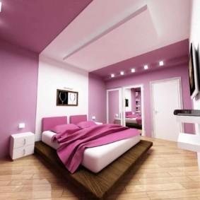 интерьер спальни в фиолетовых тонах варианты идеи