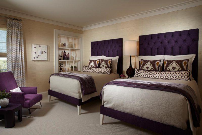 фиолетовая спальня варианты