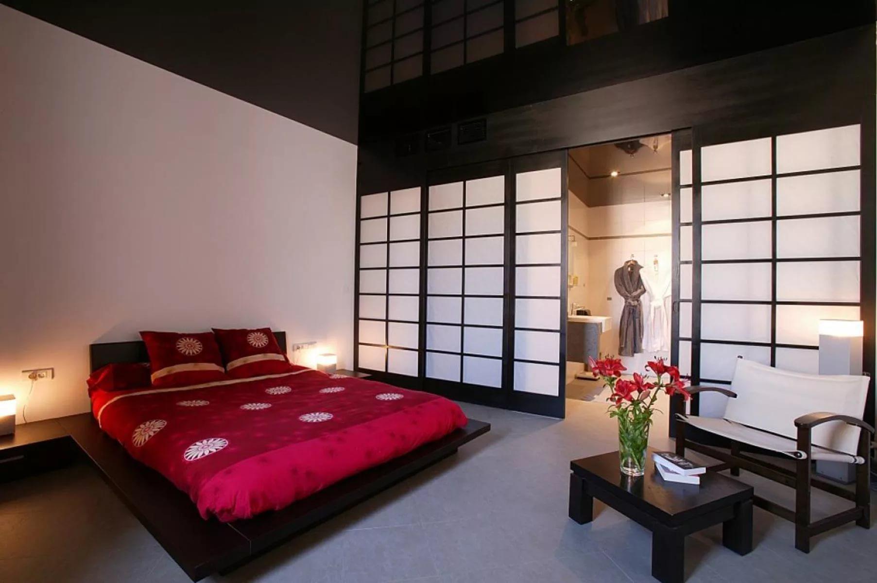 интерьер спальной комнаты по фен-шуй декор фото