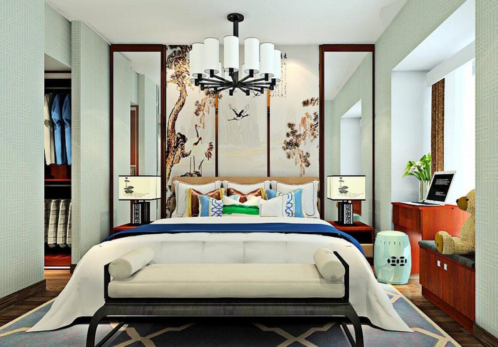 интерьер спальной комнаты по фен-шуй оформление фото