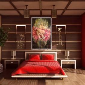 интерьер спальной комнаты по фен-шуй дизайн фото