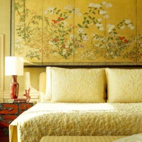 интерьер спальной комнаты по фен-шуй фото оформления