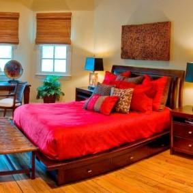 интерьер спальной комнаты по фен-шуй идеи варианты