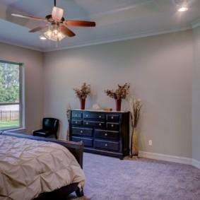интерьер спальной комнаты по фен-шуй оформление