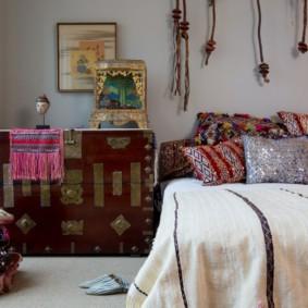 интерьер спальной комнаты по фен-шуй варианты идеи
