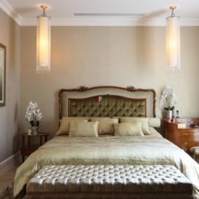 спальня в стиле неоклассика кровать