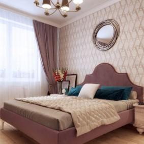 спальня в стиле неоклассика изголовье кровати