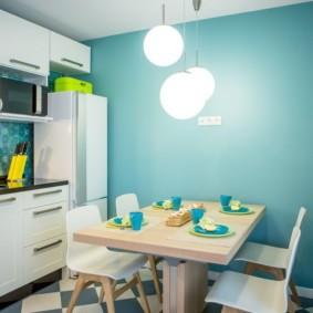 цвет стен на кухне фото дизайна