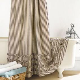 как выбрать шторы для ванной фото идеи