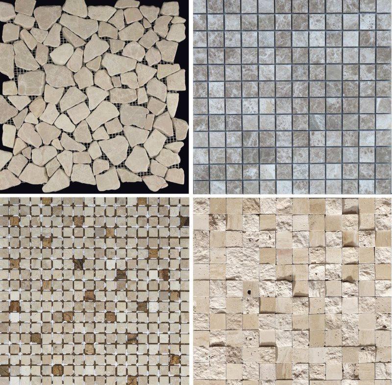 Разновидности каменной мозаики для отделки ванной комнаты