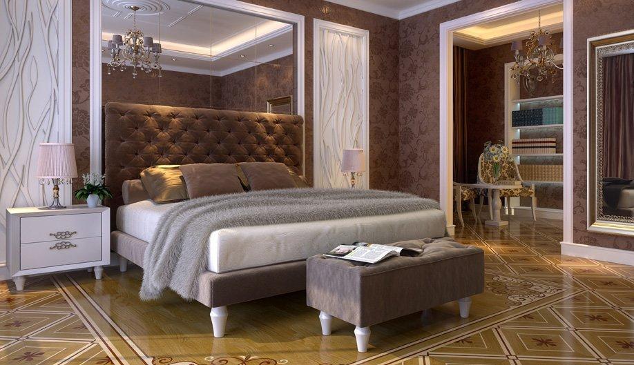 керамическая плитка в спальне