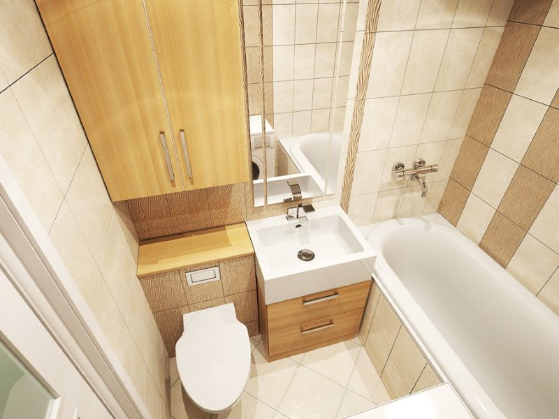 Компактная сантехника в маленькой ванной комнате