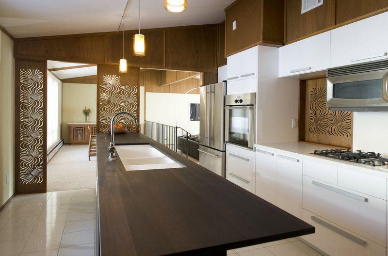 Контрастная кухня в стиле модерн