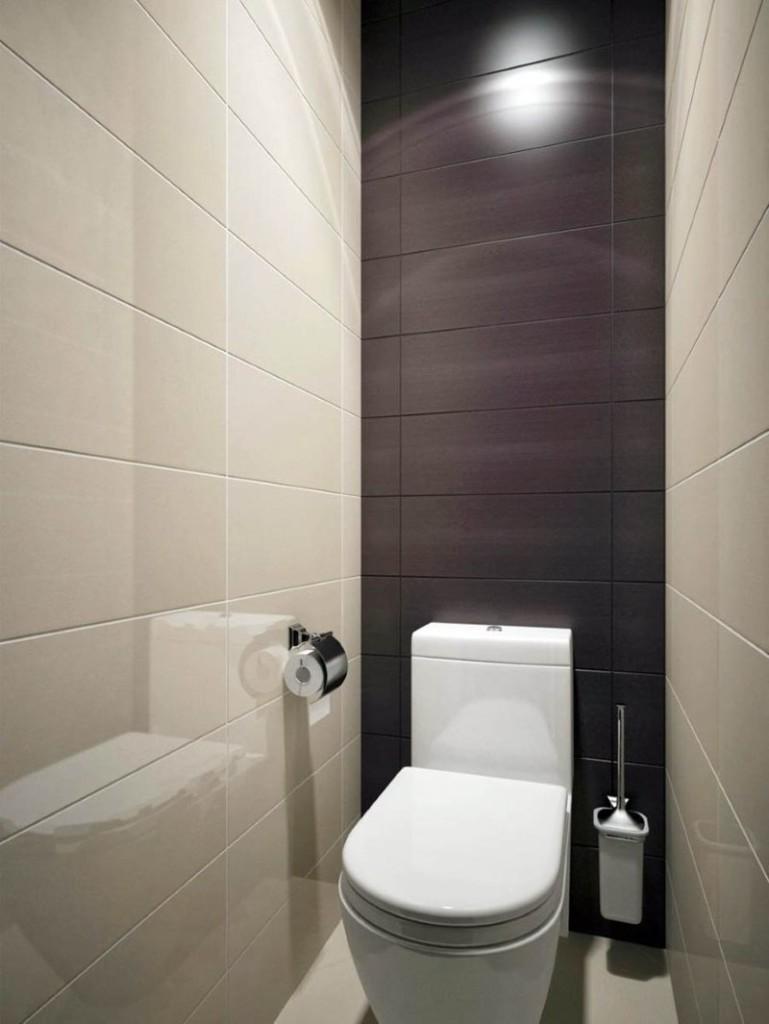 Туалет в хрущевке в стиле минимализма