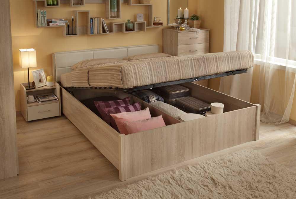 кровать с ящиками для вещей