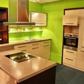 дизайн малогабаритной кухни оформление идеи