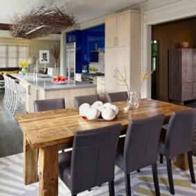 Серые кухонные стулья без подлокотников