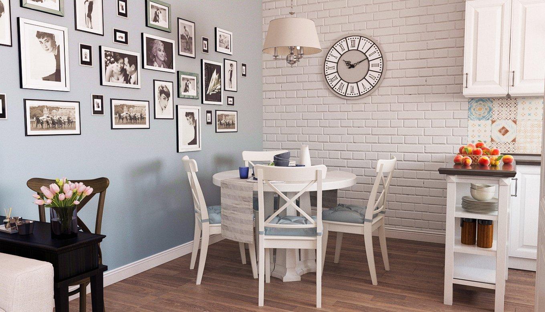 кухня с кирпичной стеной декор идеи