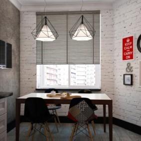 кухня с кирпичной стеной идеи интерьер