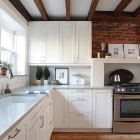 кухня с кирпичной стеной идеи видов