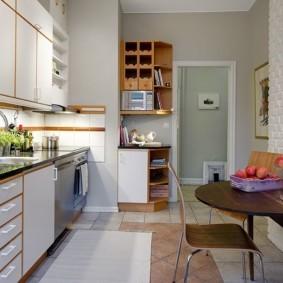кухня с кирпичной стеной виды идеи