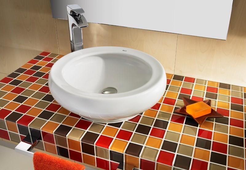 Облицовка столешницы квадратной мозаикой 3 на 3 см