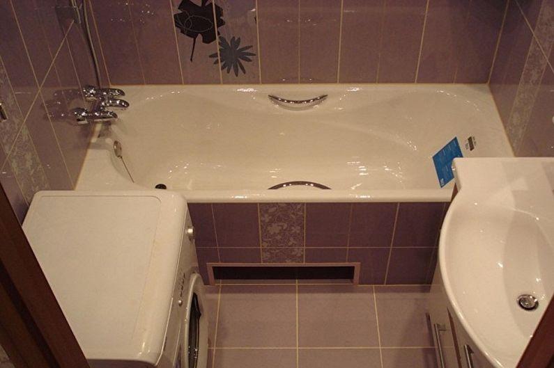 Планировка квадратной ванной комнаты со стиральной машинкой