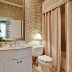 как выбрать шторы для ванной с ламбрекеном